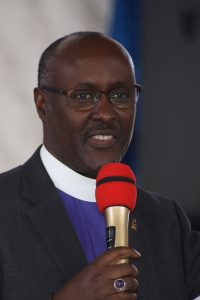 The Bishop of Kigali Diocese Rt. Rev. Nathan Amooti